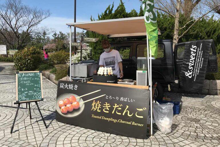 鳥屋野潟公園でキッチンカーのラーメン食べてきた。炭焼きだんごもハシゴして満腹♪の画像5